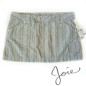 NWT Joie Cargo Mini Skirt In Chalk Sz 10